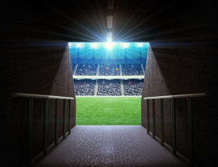 Fototapete - stadium tunnel