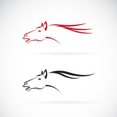 Vector images of horse head design on a white background, Horse