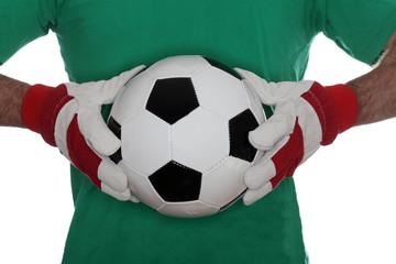 Fußball mit Torwart