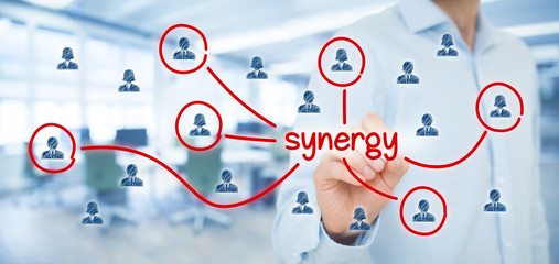 the concept of synergies Noun, plural synergies 1 the interaction of elements that when combined produce a total effect that is greater than the sum of the individual elements, contributions, etc.