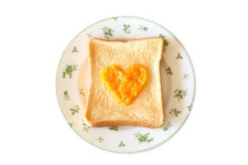 お皿に載った食パン