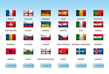 Collection of flags of countries