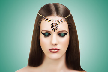 Ancient Egypt Style Nefertiti Cleopatra Beauty
