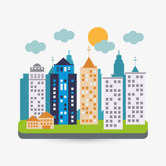 City design. Building icon. Isolated illustration, editable vector