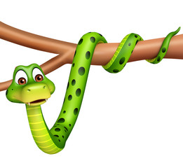 fun Snake cartoon character