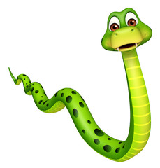 walk  Snake cartoon character