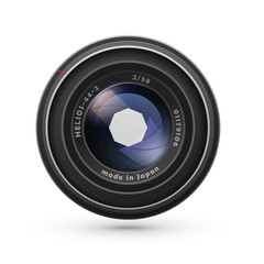 Photo lens isolated on white