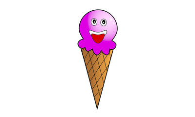 Ice cream cartoon illustrations