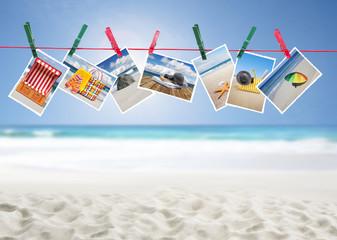 Urlaubsfotos vor Sandstrand