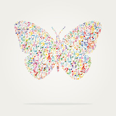 butterfly shape music color