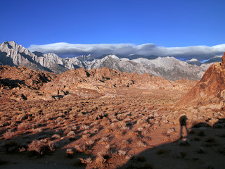 lone pine peak and alabama hills shortly after sunrise eastern s