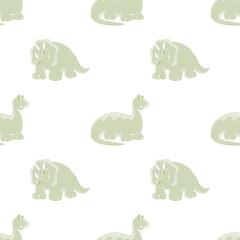 Dinosaurs. Seamless white background