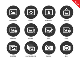 Picture icons on white background