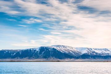 Mountain landscape in the ocean