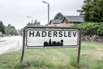 City sign of Haderslev