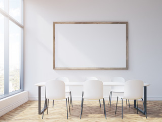 Frame and rectangular conference table