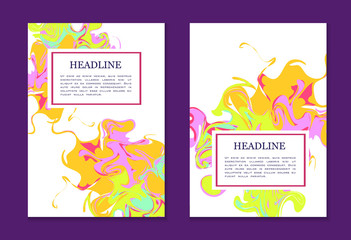 Bright colorful design template for book cover, poster, flyer, annual report