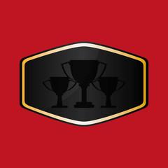 Champion design. winner icon. Colorful illustration