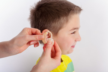 Hearing aid for a child