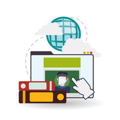 E-learning design. Education icon. Isolated illustration