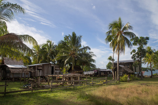 Local village on the Solomon Islands