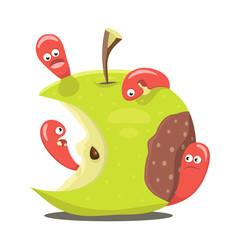 Worm eaten rotten apple