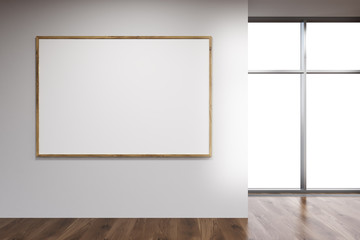 Blank picture frame in interior