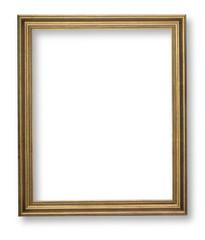 wooden frame on white background