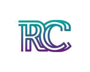 RC lines letter logo