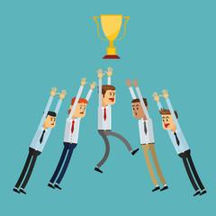 Winner design. Success icon. Colorful illustration