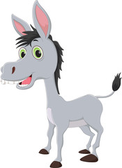 happy donkey cartoon