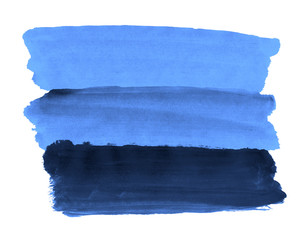 A fragment of the background in blue tones painted with watercolors