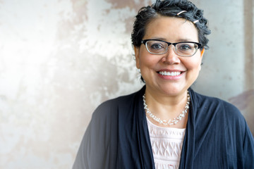 Happy Hispanic Female Portrait