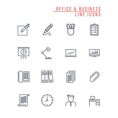 Office and Business Line Icons