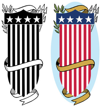 American flag shield icon