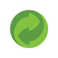 recycling icon, ecology green icons set on white background