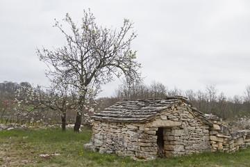 Steinhütte in Istrien