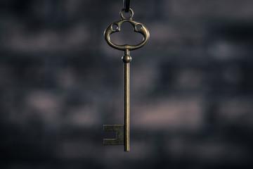 暗い背景で撮影された鍵