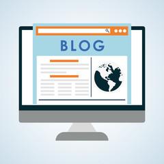 Blog design. Social media concept. online illustration