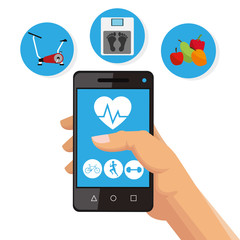 Healthy lifestyle design. bodycare icon.  Colorful illustration