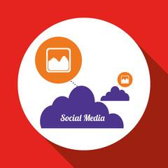 Social media design. media icon. communication concept,