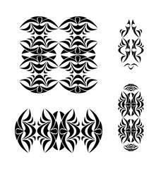 Tribal ornament set