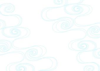 流水 和波 背景イラスト 水色