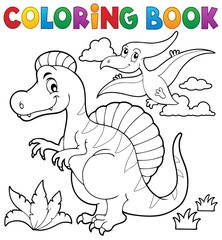 Coloring book dinosaur theme 2