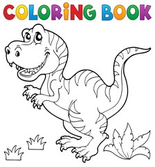 Coloring book dinosaur theme 5