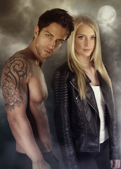a vampire story - vampire couple