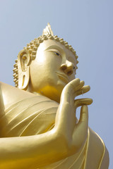 Out door,Hand of gold Buddha