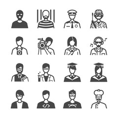 Occupation icons set