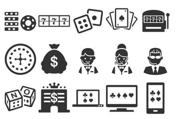 Stock Vector Illustration: Casino icons