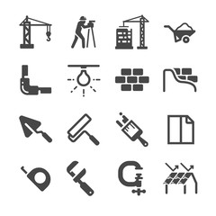 Construction icons set 2